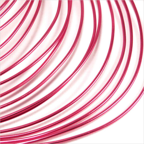 2 Mètres Rose pink Fil en Aluminium 1mm