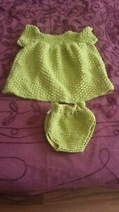Alerte Hand Knitted Dolls Clothes To Fit 20 In (environ 50.80 Cm) Poupée-afficher Le Titre D'origine Couleurs Fantaisie