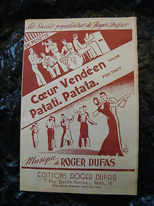 Partition Coeur Vendeen Patati Patata Roger Dufas 1950