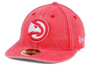 d75a7a7c346090 Atlanta Hawks New Era Faded Low Profile 59Fifty Hat Cap ( Size 7 3/8 ...