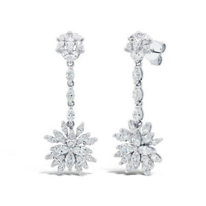 Image Is Loading 2 80ct 14k White Gold Marquise Diamond Dangle