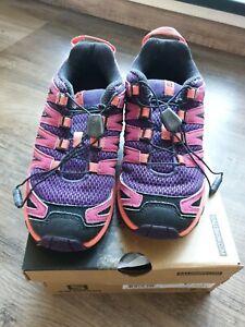 Details zu Salomon XA Pro 3D J Cosmic Purple Kinder Schuhe *Top Zustand * Gr.35