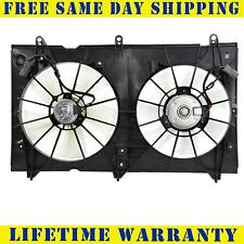 TYC Dual Radiator and Condenser Fan Assembly for 2003-2007 Honda Accord 2.4L zw
