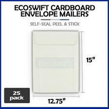 25 1275 X 15 Self Seal White Photo Ship Flats Cardboard Envelope Mailers
