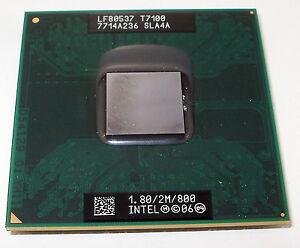 Processeur mobile CPU Intel Core 2 duo 1.8 GHz SLA4A lf80537 T7100 - France - État : Occasion: Objet ayant été utilisé. Objet présentant quelques marques d'usure superficielle, entirement opérationnel et fonctionnant correctement. Il peut s'agir d'un modle de démonstration ou d'un objet retourné en magasin aprs une - France