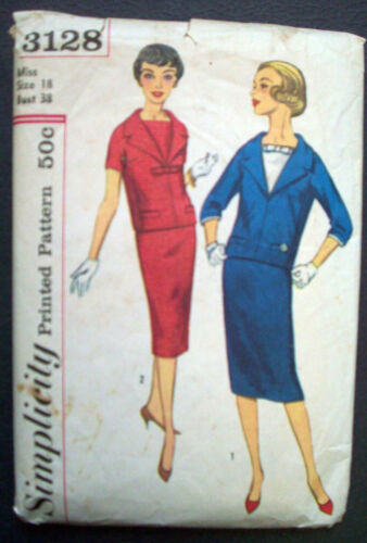 1950's women's Middy Blouse jacket thin skirt pattern 3128 size 18