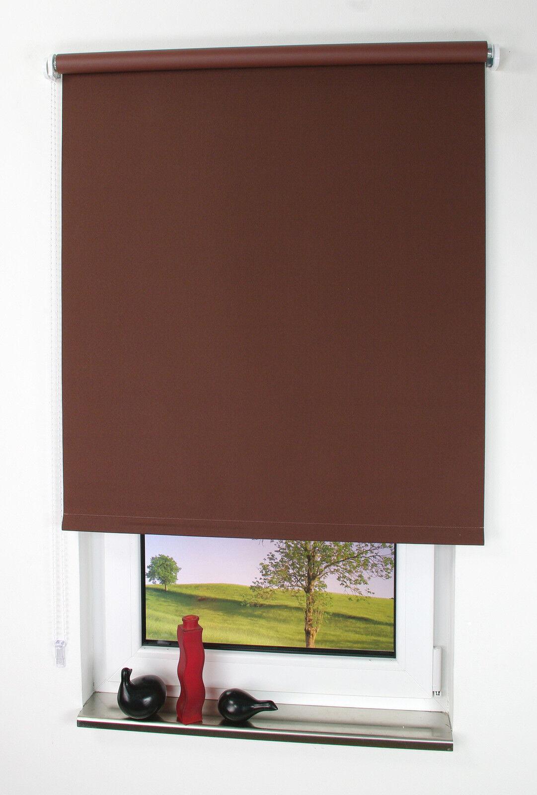 Spring- Seitenzugrollo Maßanfertigung für Fenster & Türen verdunkelnd cappuccino