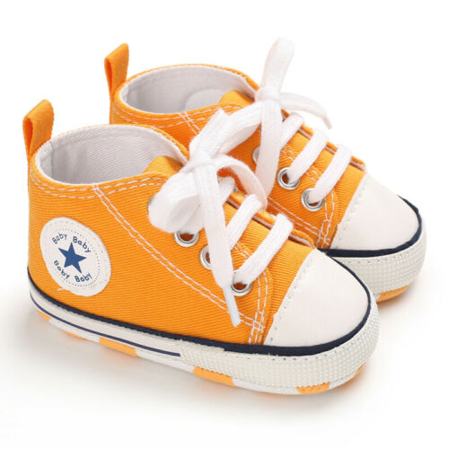 Infant Toddler Baby Boy Girl Soft Sole Crib Shoes Sneaker Newborn 0-18 Months