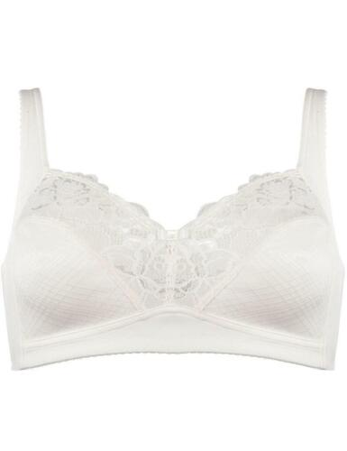 Soft Cup Lace Bra in Ivory Naturana Wire Free Soft Cup Bra Non Wired Bra