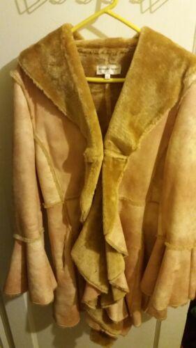 donne maniche 10 Felpa taglia campana a Newport News cappotto pelle scamosciata in delle con finta qPxAwR