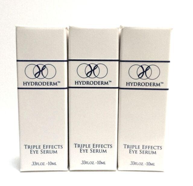 Hydroderm Triple Effects Eye Serum Wrinkle Reducer Cream Lotion  3 Bottles