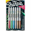 Sharpie Opaque Matallic Markers Pack Fine Point 6 Colors Pack 2046942 NEW