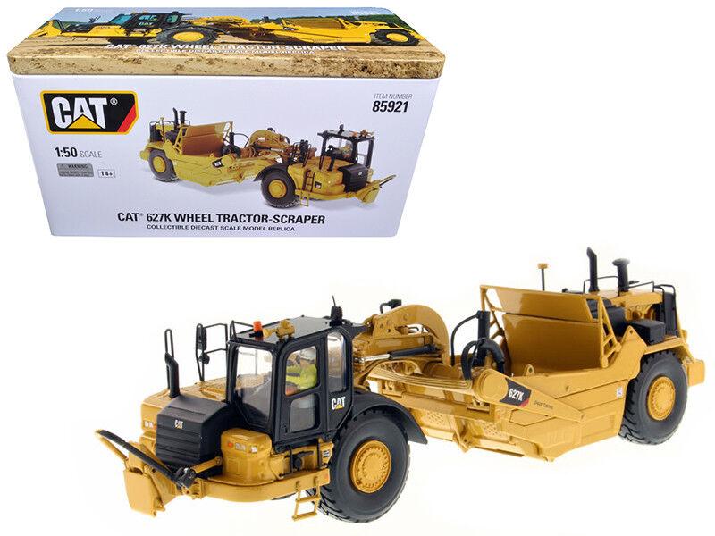 Katze caterpillar 627k rad tractor-scraper 1   50 von 85921ne druckguss - modell