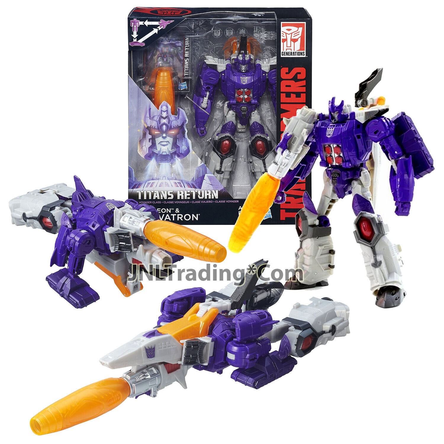 Year 2015 Hasbro Transformers Generations Titans Return Fig NUCLEON & GALVATRON