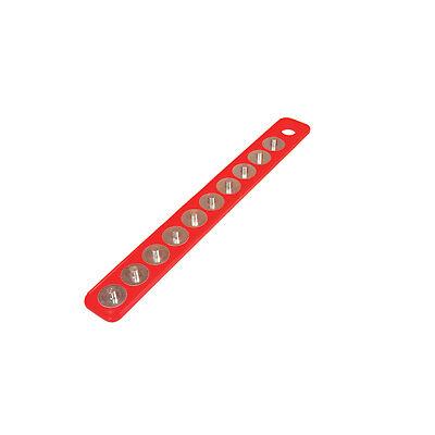 """Competente Mag-clip 72402 Original Mag-clip Socket Holder Strip Red 3/8"""" Modelli Alla Moda"""