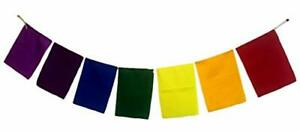 Blank-Prayer-Flags-Set-of-7-Flags-Put-Your-own-Prayers-Seven-Chakra