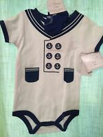 Boys Sailor 9 Months Outfit Infant 2 Piece Set Navy And White July 4th