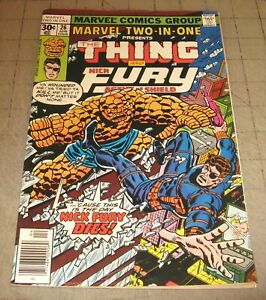 Marvel-TWO-IN-ONE-26-Apr-1977-FN-Condition-Comic-The-Thing-amp-Nick-Fury