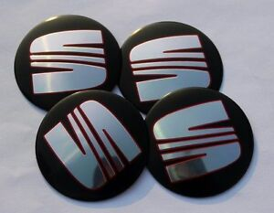 Seat-Wheel-Center-Cap-Badge-90mm-Set-of-4-Ibiza-Leon-Cupra-Alhambra-Toledo-Altea