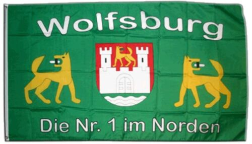 Fahne Fanflagge Wolfsburg Flagge Fußball Hissflagge 90x150cm