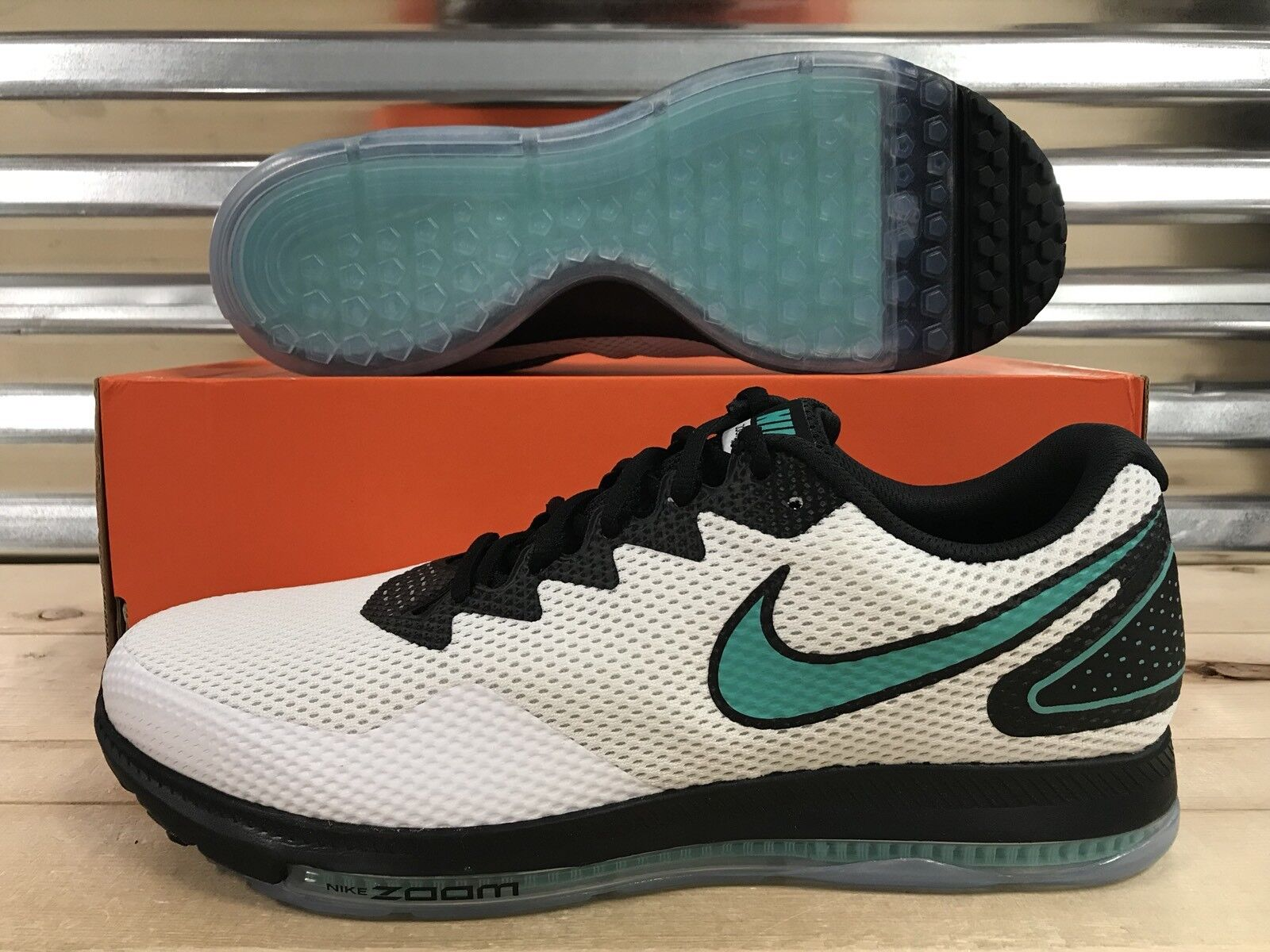 Nike Zoom All Out Low 2 Running Shoes White Clear Jade SZ 14 ( AJ0035-101 )