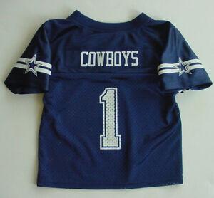NWT DALLAS COWBOYS  1 Mesh Jersey Navy Blue Toddler Boys Girls Sz 2T ... 36db18c3a