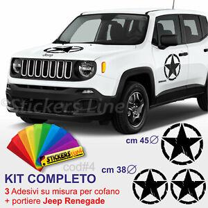 Adesivi-Stella-Militare-Kit-COMPLETO-portiere-cofano-Jeep-Renegade-us-army-c-4