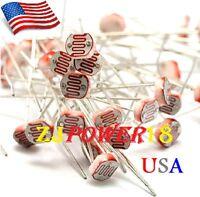 50pcs 5528 5mm 10k-20k Photoresistor Light-dependent Resistor Sensor Gl5528