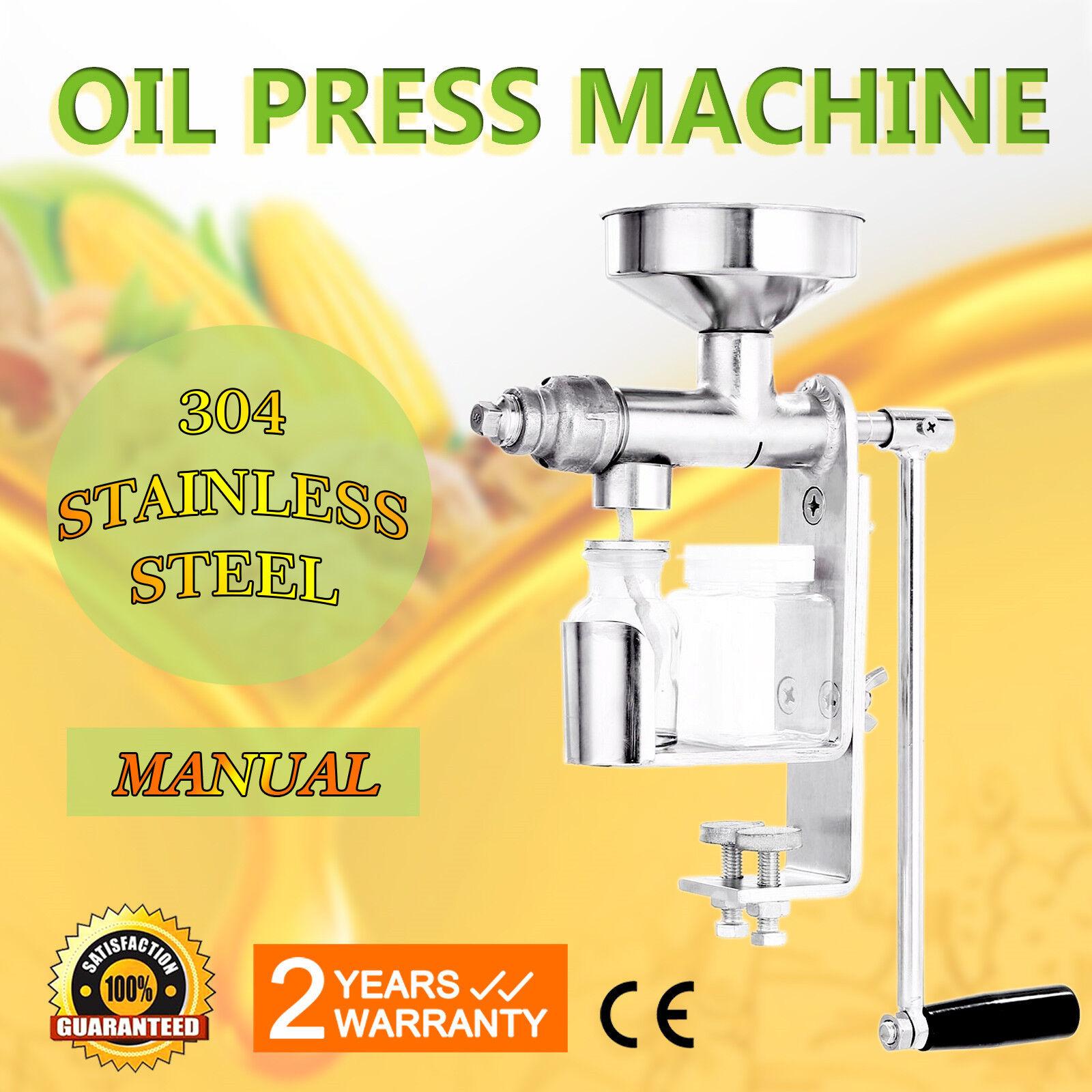 Máquina prensa de pequeñas aceite prensado en frío de Acero Inoxidable
