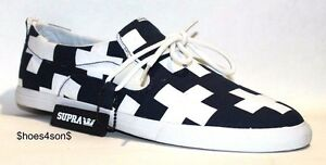 uomo bianca Supra stampa 11 Plus 12 Sneaker canvas taglie e M da Us Navy qCRdEHwYx