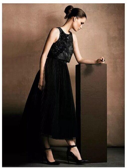 BNWT COSTA   UK Taglia 6 6 6 Harlie Impreziosito Nero Midi Prom Dress Nuovo XS Prezzo Consigliato c8dcb7
