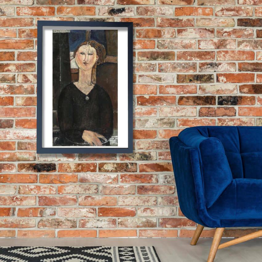 Amedeo Modigliani - Antonia Wand Kunst Poster Drucken