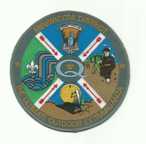 SCOUT BSA 1995 85TH ANNIVERSARY JACKET PATCH MINIWICOTA DISTRICT VIKING COUNCIL