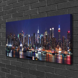 Canvas-print-Wall-art-on-100x50-Image-Picture-Skyscraper-City-Houses