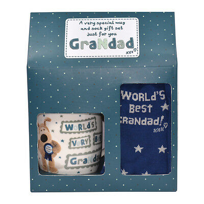 Boofle Grandad Mug & Socks Gift Set Christmas Birthday Father's Day