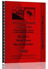 International Harvester 200H Manure Spreader Parts Manual