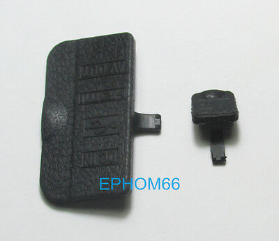 A Set of USB DC IN HDMI AV OUT Interface Terminal Rubber Cover Lid For Nikon D90
