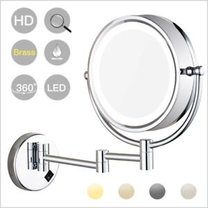 Wall Mounted Led Lighted Makeup Mirrors With 5x 7x 10x