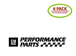Details about GM Performance Parts Sticker Vinyl Decal 4 Pack