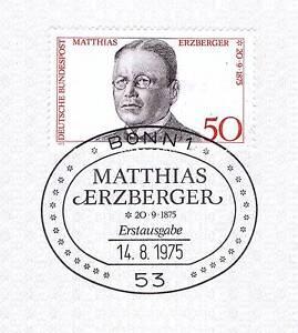 Diligent Rfa 1975: Matthias Erzberger Nº 865 Avec Propre Bonner Ersttags Cachet 1a! 155-l 1a! 155fr-fr Afficher Le Titre D'origine