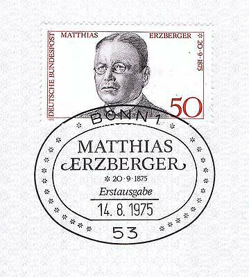 Brd 1975: Matthias Erzberger Nr. 865 Mit Sauberem Bonner Ersttagsstempel 1a! 155 Angenehme SüßE