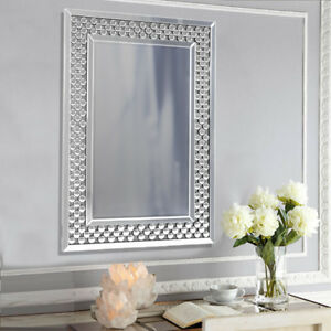 Venetian Elegant Bevelled Glass Wall Mirror Crystal