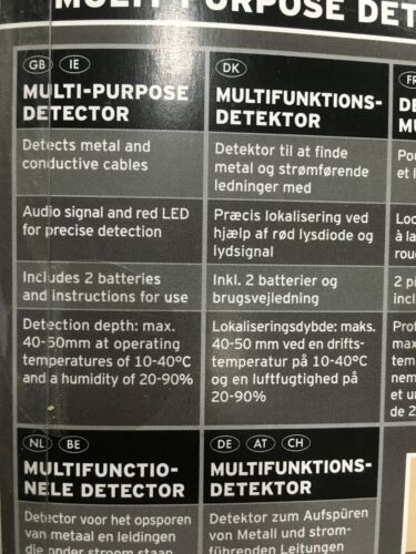 Powerfix Profi Multi-Purpose détecteur-Neuf