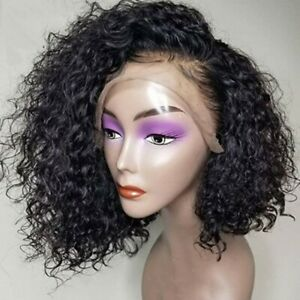 Front-Lace-Black-Curly-Wavy-Natural-Women-Hair-Ladies-Full-Wig-Heat-Resistant