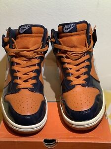 2003 Nike Dunk High Mesa Orange White Obsidian 305287-811 Size 9.5 ... e04abe99b4fe