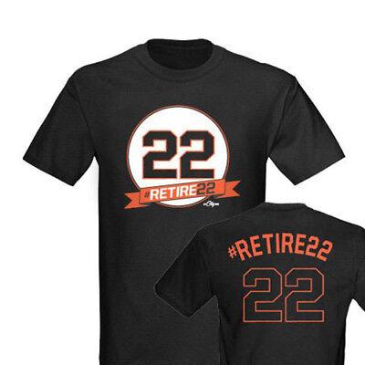 size 40 fc6a9 1b588 Jersey Nwot Will 22 Retire Black Clark Francisco Ebay Mens ...