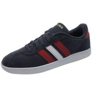 Details zu Adidas Vlneo Court Herren Freizeitschuhe blaurotweiß Vintage Sneaker NEU