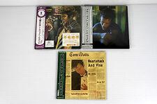 TOM WAITS ~ JAPAN MINI LP CD x 3 ALBUMS, ORIGINAL, RARE, OOP