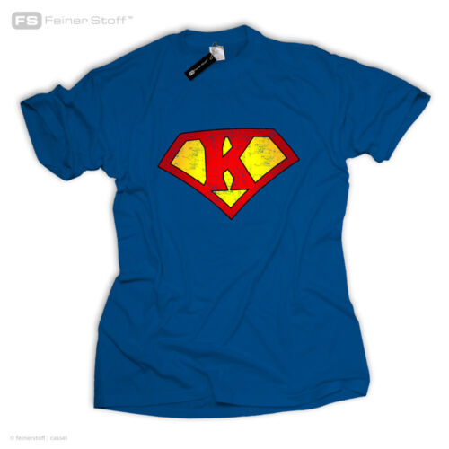 Be a Superman Superheld T-Shirt Name Logo Letter Buchstabe A B C D E F G H I