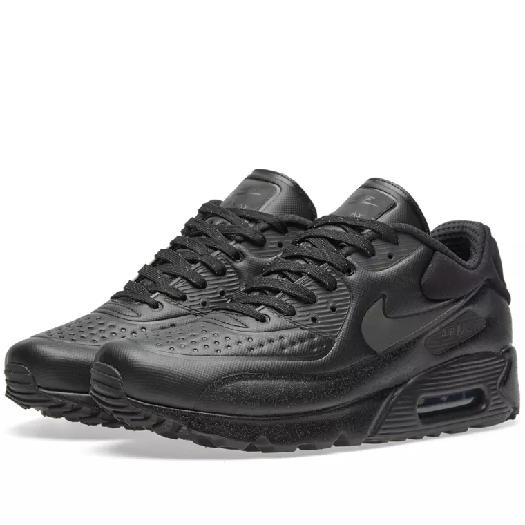 RARE NIKE AIR MAX 90 ULTRA SE /METALLIC PRM TRAINERS UK9 Noir /METALLIC SE Noir  858955001 422738